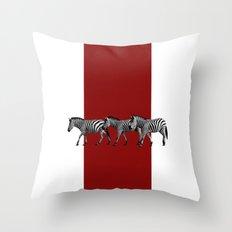Lined Zebras Throw Pillow