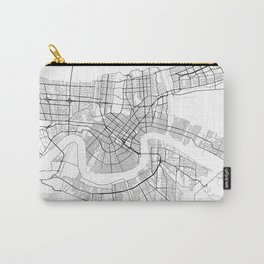 New Orleans Louisiana Street Map Carry-All Pouch