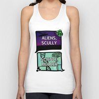 dana scully Tank Tops featuring Aliens, Scully by raynall