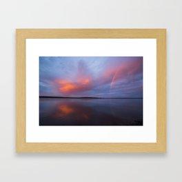 Finnish sunset Framed Art Print