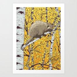 Porcupine & Aspen Art Print