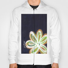 Navy and Gold Flower Hoody