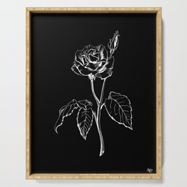Black Rose Serving Tray