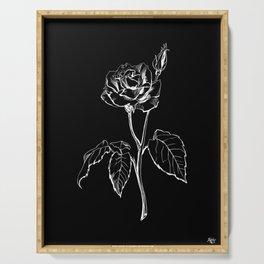 Black Rose Serving Tray