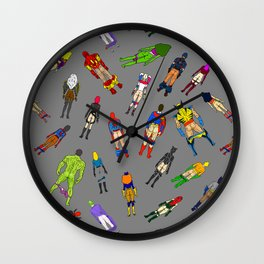 Butt of Superhero Villian - Dark Wall Clock