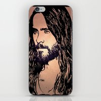 jared leto iPhone & iPod Skins featuring Vector Jared Leto by Emma Porter