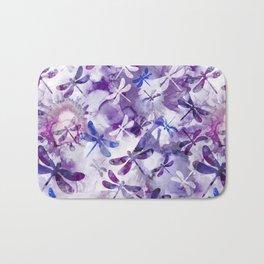 Dragonfly Lullaby in Pantone Ultraviolet Purple Bath Mat