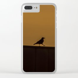 Walking Crow Clear iPhone Case