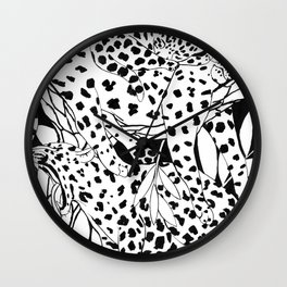 Sleepy leopards Wall Clock