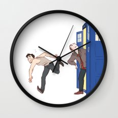 tardis-sick Wall Clock