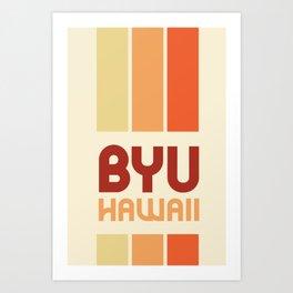 BYU Hawaii Warm Colors Art Print