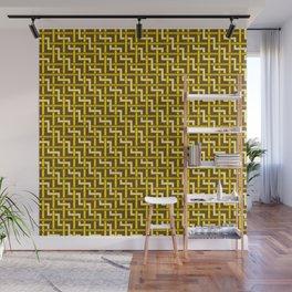 Golden Zig Zag Weave Wall Mural