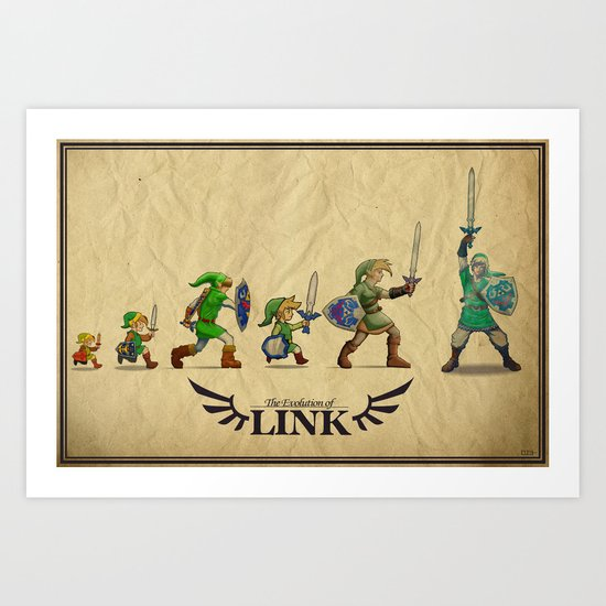 The Evolution of Link Art Print