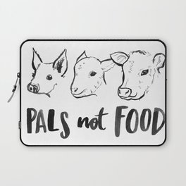 Pals Not Food Illustration by Laura Tubb Laptop Sleeve