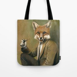 Vintage Fox In Suit Tote Bag