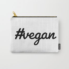 Hash Tag VEGAN Carry-All Pouch