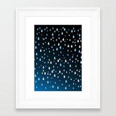 Rain Rain Rain Framed Art Print