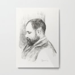 Portrait of Ambroise Vollard (1904) by Pierre-Auguste Renoir. Metal Print