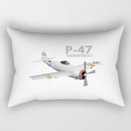WW2 P-47 Thunderbolt Airplane Rectangular Pillow