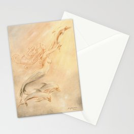 Dolphins Angel of the Seas Stationery Cards