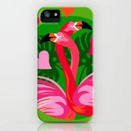 Flamingo Hug iPhone Case