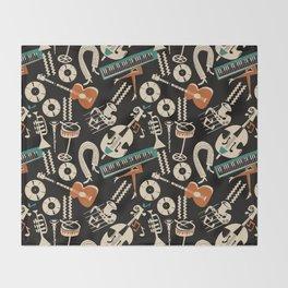 Jazz Rhythm (negative) Throw Blanket