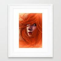 redhead Framed Art Prints featuring redhead by Nuria Mrtz. FotoArt