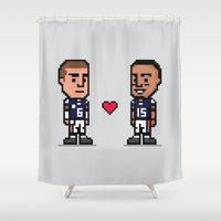 8-Bit: Bromance Shower Curtain