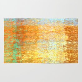 Textured Layered Abstract Rug