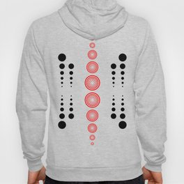 circles in black and red Hoody