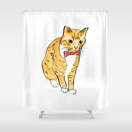 CAT WITH A BOW TIE Shower Curtain