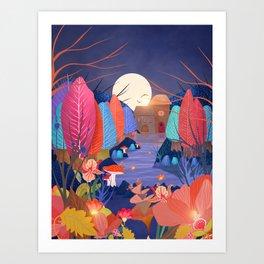 Mystery Garden II Art Print