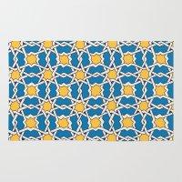 morocco Area & Throw Rugs featuring Morocco ornament by Galina Khabarova
