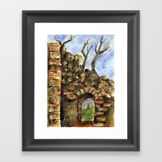 Burned Out Castle #1 Framed Art Print