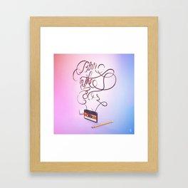 Born in the 80's Framed Art Print