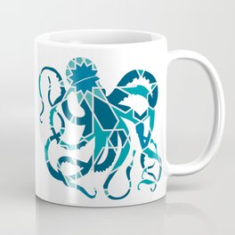 GREAT OCTOPUS SILHOUETTE WITH PATTERN Coffee Mug