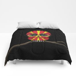 Baby Owl with Glasses and Macedonian Flag Comforters