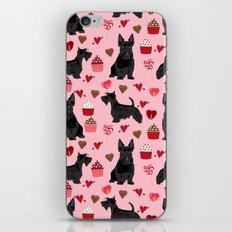 Scottie scottish terrier valentines day dog love pet portrait cute puppy dog valentine iPhone & iPod Skin