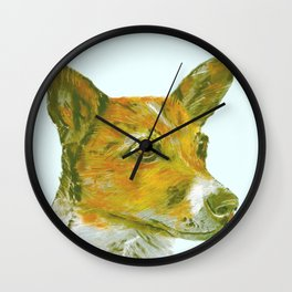 Jack Russell printed from an original painting by Jiri Bures Wall Clock