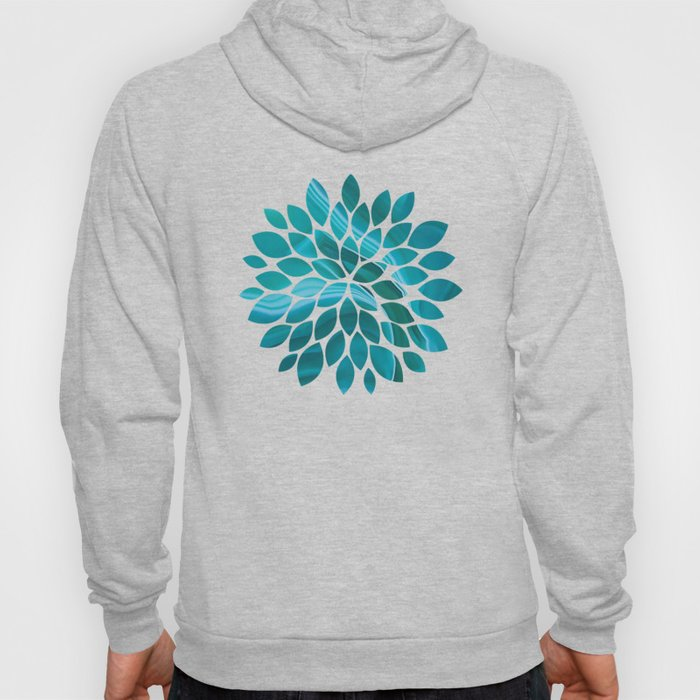 Agate sea green texture Hoody