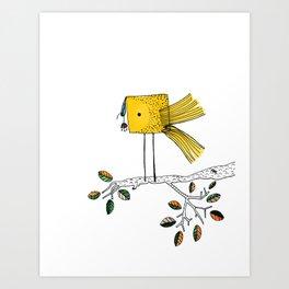 Nosy Bird Art Print