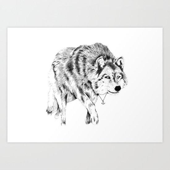 Mister Wolf Art Print