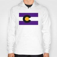 colorado Hoodies featuring Colorado by vinnyandthejets