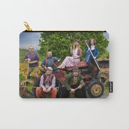 The population of Chazelles Bas came together for a town photo at the old tractor. Carry-All Pouch
