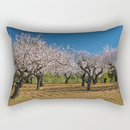 Almond orchard in Portugal Rectangular Pillow