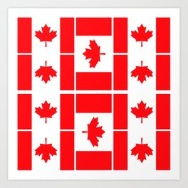 Canadian Flag Art Print