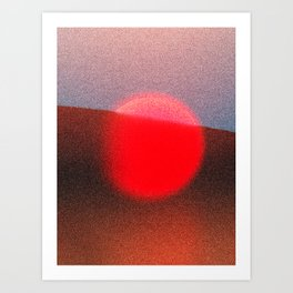Unset Art Print
