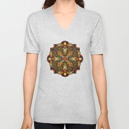Mandala Sacred Rams - Dark Version Unisex V-Neck