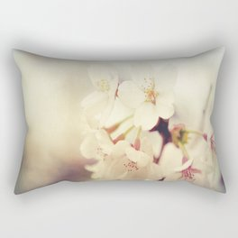White Poppy Grudge Rectangular Pillow