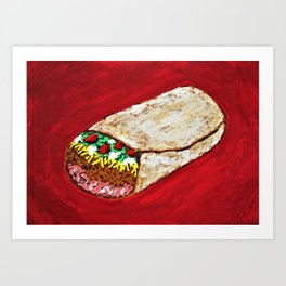 Georgiana's Burrito #287 Art Print